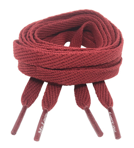 Mr Lacy Flatties Flat Burgundy Shoelaces