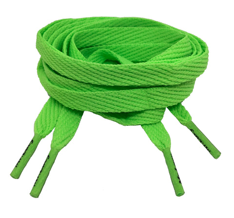 Mr Lacy Flatties - Flat Neon Green Shoelaces