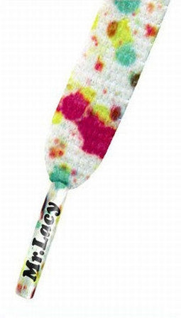 Mr Lacy Printies - Flat Paint Splash Pattern Shoelaces