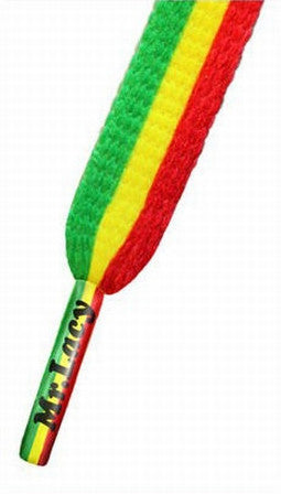 Mr Lacy Printies - Flat Rasta Pattern Shoelaces