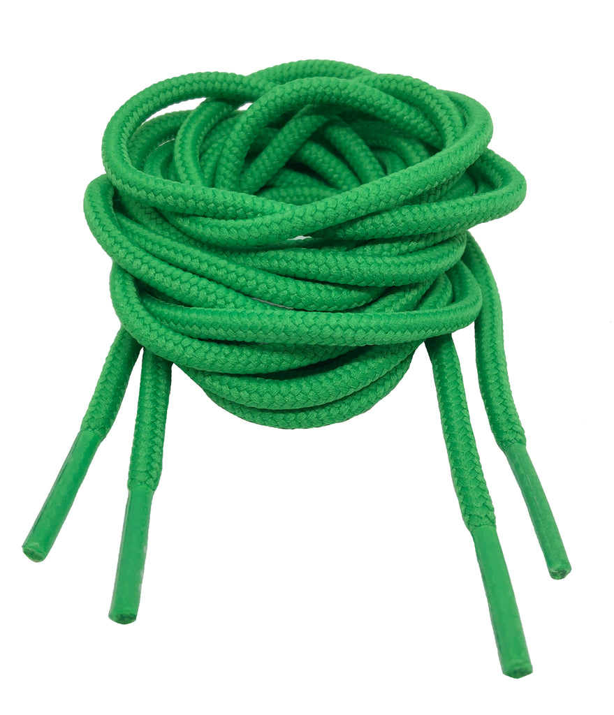 Mr Lacy Roundies - Round Kelly Green Shoelaces - 5mm wide