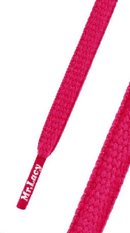 Mr Lacy Runnies Neon Pink Shoelaces