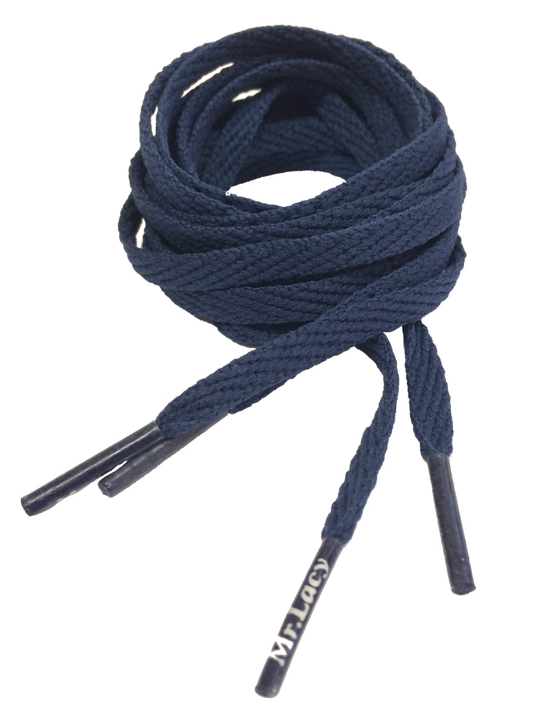Mr Lacy Skinnies - Flat Navy Blue Shoelaces