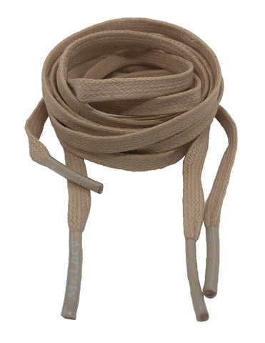 Mr Lacy Waxies Beige Shoelaces - 5mm wide