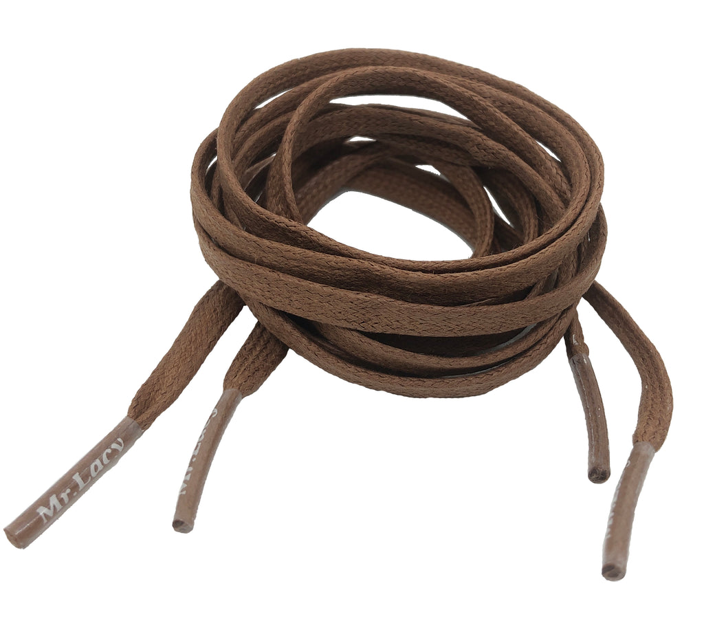 Mr Lacy Waxies Brown Shoelaces - 5mm wide
