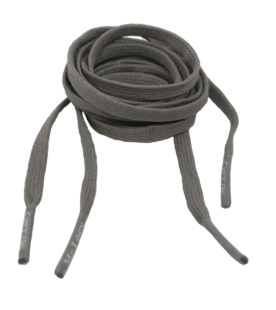 Mr Lacy Waxies Dark Grey Shoelaces