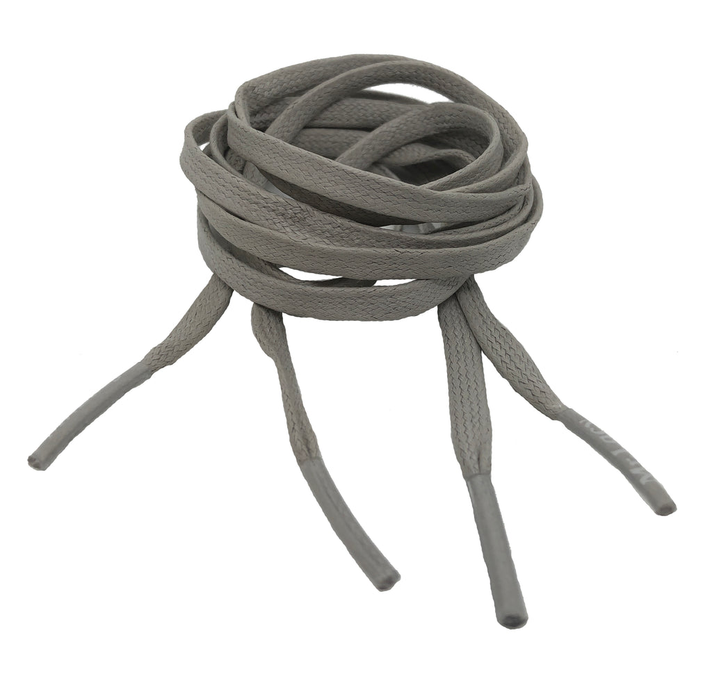 Mr Lacy Waxies Grey Shoelaces - 5mm wide