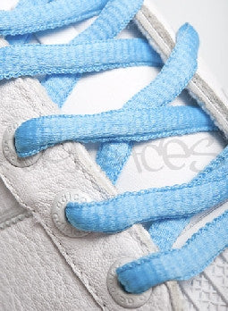 Azure Blue Oval Shoelaces