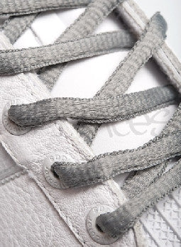 Battleship Grey Oval Shoelaces