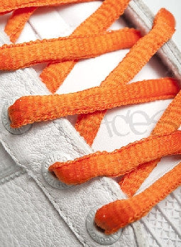 Burnt Orange Oval Shoelaces
