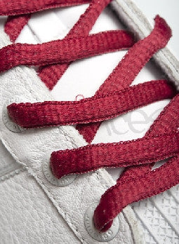 Burgundy Oval Shoelaces