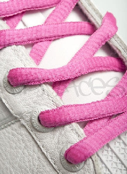 Hot Berry Oval Shoelaces