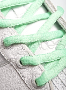 Jade Oval Shoelaces