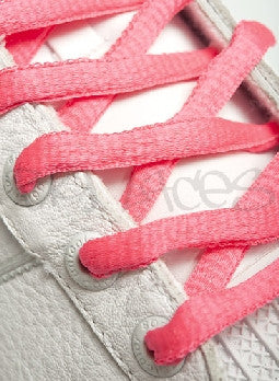 Neon Pink Oval Shoelaces