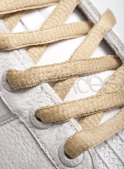Oatmeal Oval Shoelaces