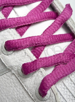 Plum Oval Shoelaces