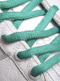 Sea Green Oval Shoelaces