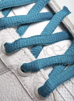 Teal Oval Shoelaces