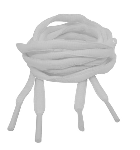 White Oval Shoelaces