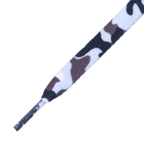 Mr Lacy Printies - Flat Camouflage White Shoelaces - 10mm wide