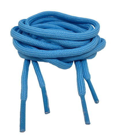 Round Azure Blue Shoelaces