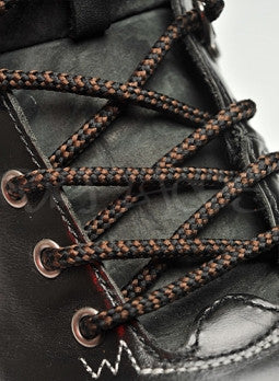 Round Black and Brown Bootlaces