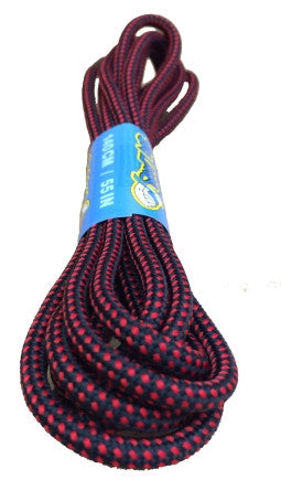 Round Black Red Pinpoint Bootlaces