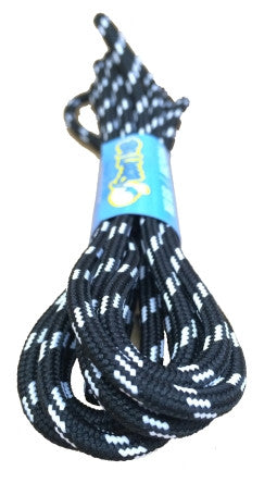 Round Black White Fleck Bootlaces