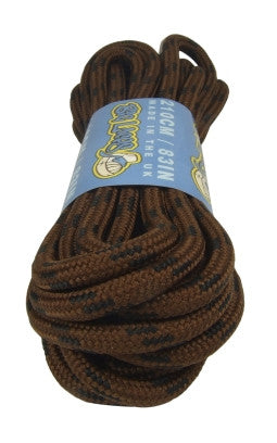 Round Brown and Black Fleck Bootlaces