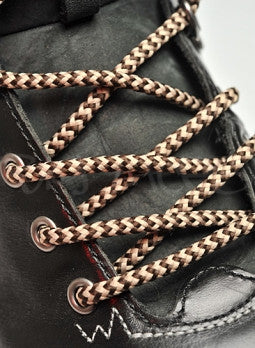 Round Brown and Oatmeal Bootlaces