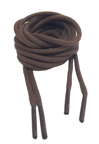 Round Cotton Brown Shoelaces