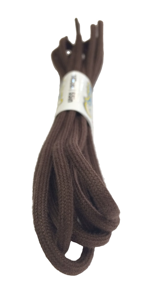 Round Brown Cotton Shoe Boot Laces