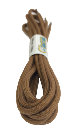 Round Light Brown Cotton Shoe Boot Laces