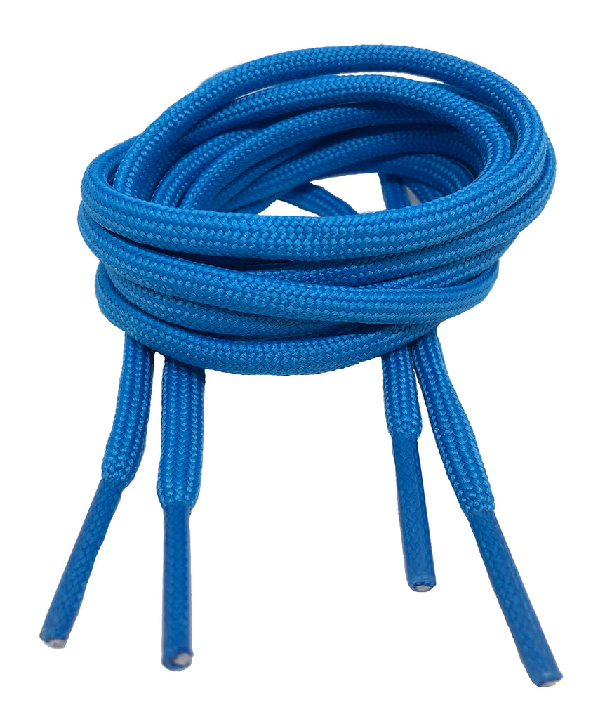 Round Electric Blue Shoelaces