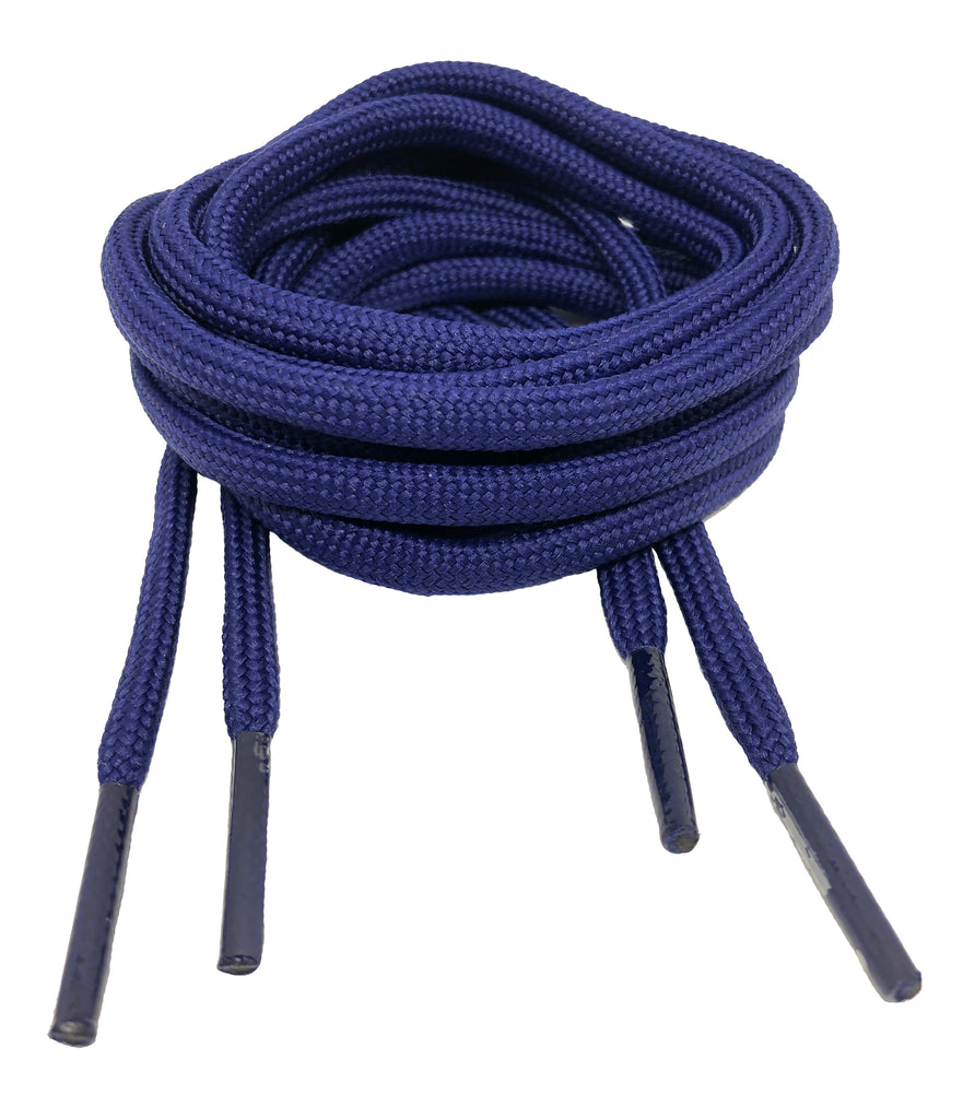 Round French Navy Blue Shoelaces