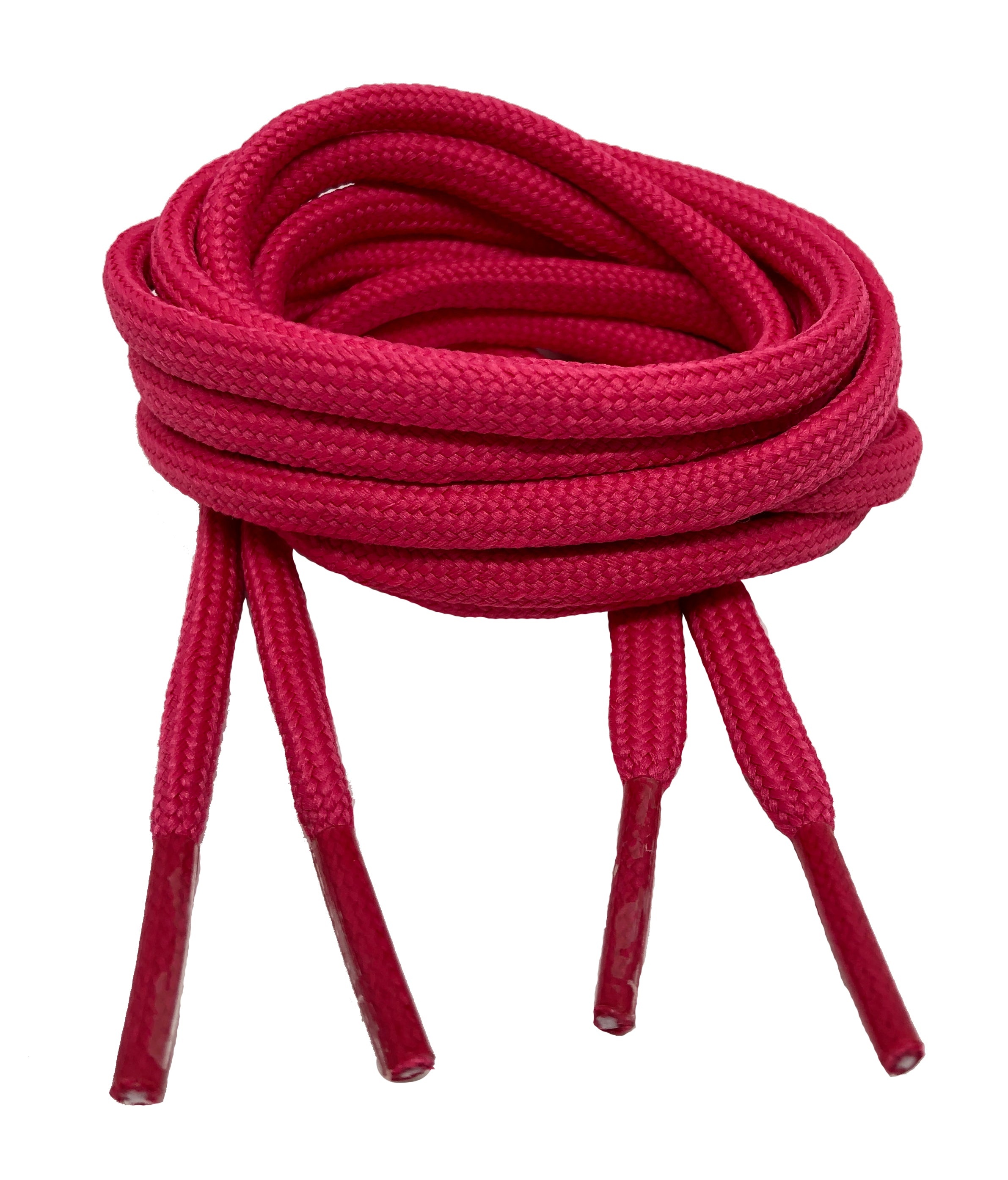 Round Hot Pink Shoelaces