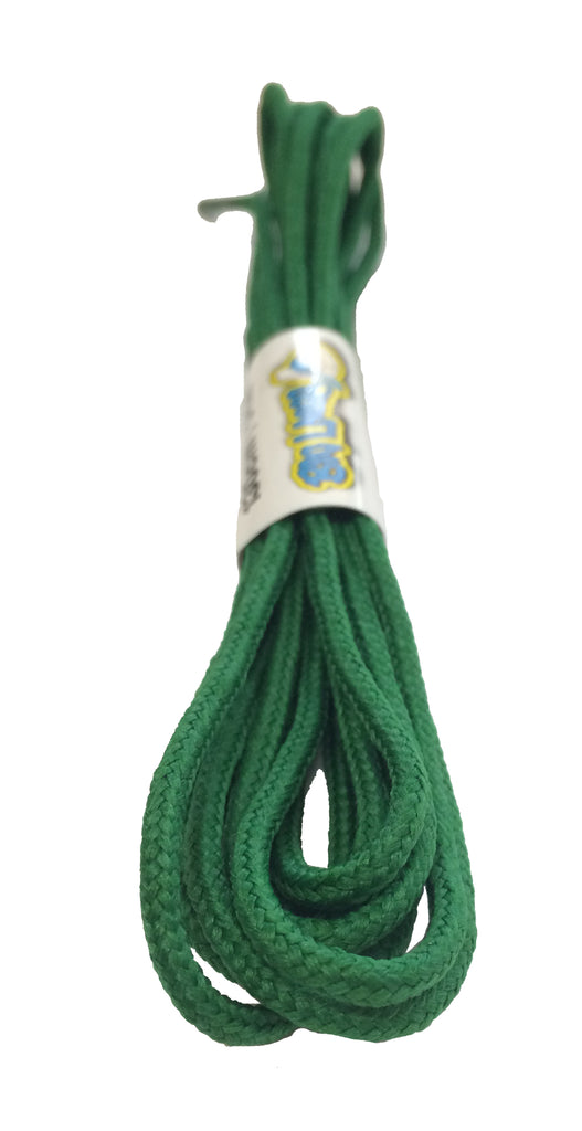 Round Kelly Green Shoelaces