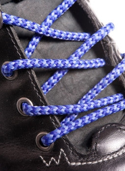 Round Lilac and Purple Bootlaces