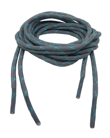 Round Grey and Blue Bootlaces