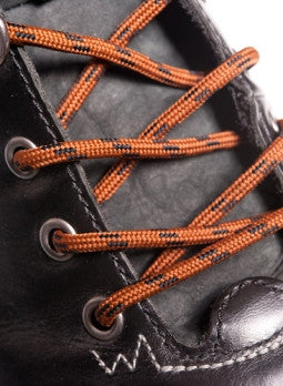 Round Nutmeg Brown and Black Bootlaces