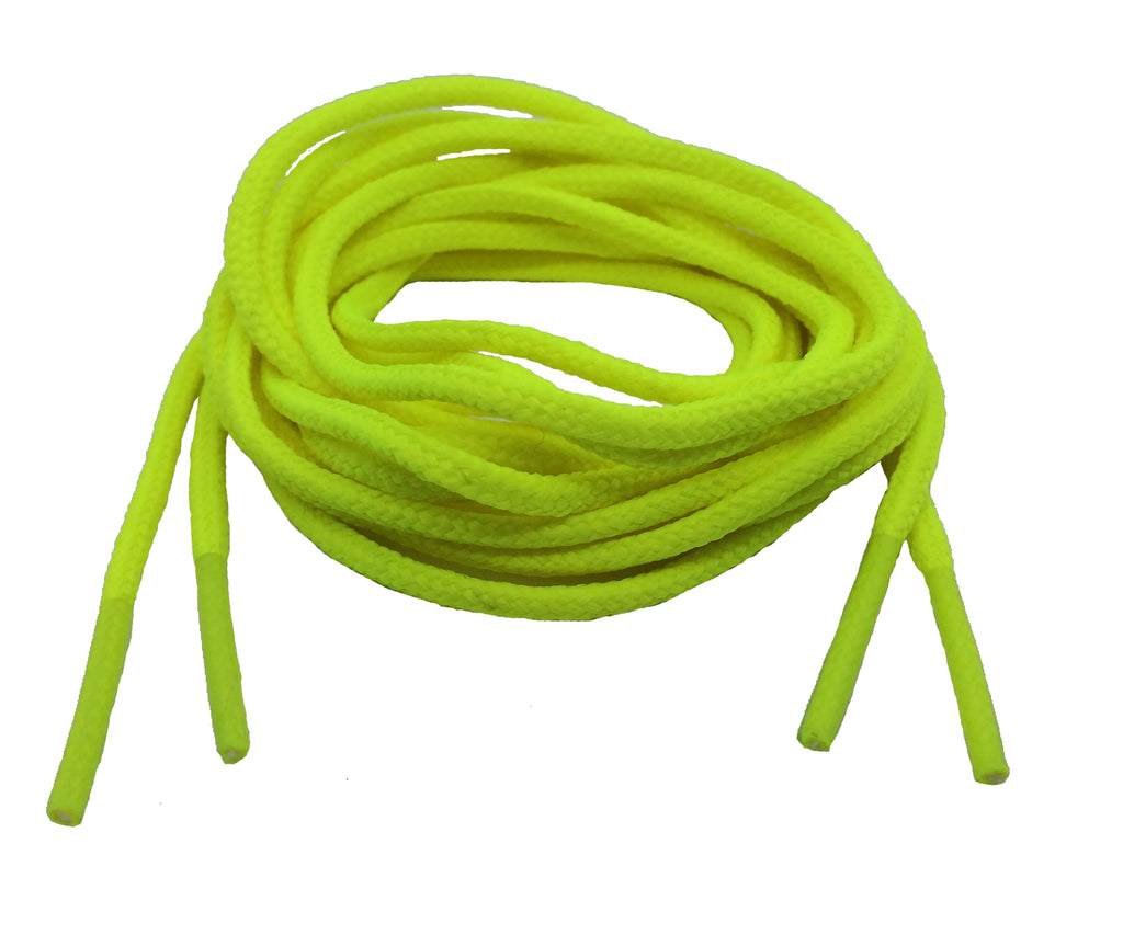 Round Neon Yellow Shoelaces - 3mm wide