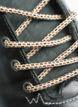 Round Multi Coloured Oatmeal Bootlaces