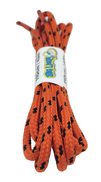 Round Orange and Black Bootlaces