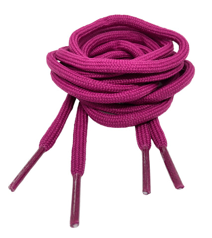 Round Plum Shoelaces