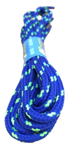 Round Royal Blue and Lime Bootlaces