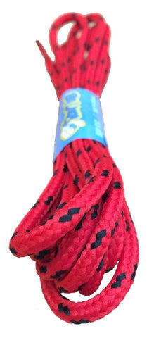 Round Red and Black Bootlaces