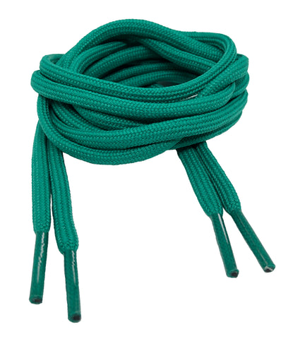 Round Sea Green Shoelaces