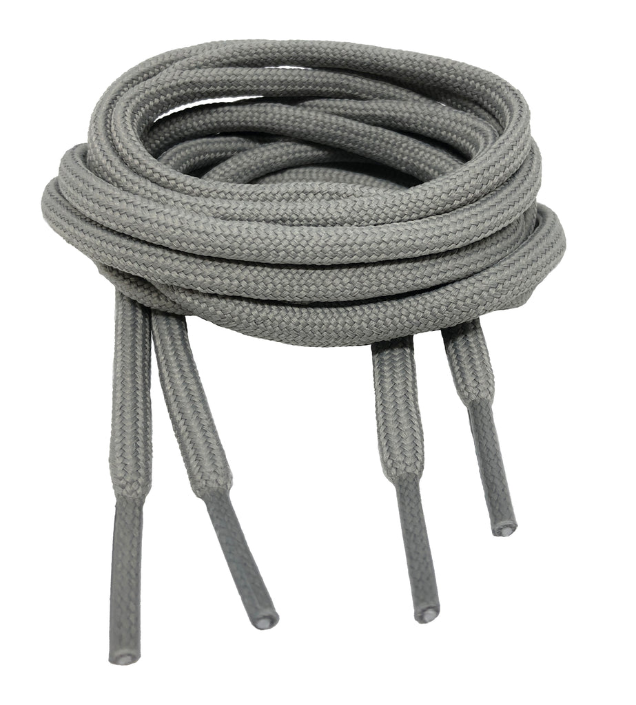 Round Grey Shoelaces
