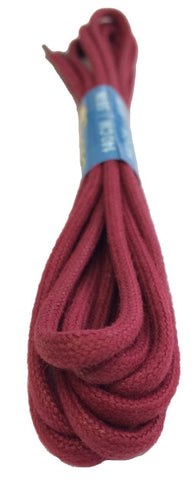 Round Waxed Burgundy Cotton Shoe Laces