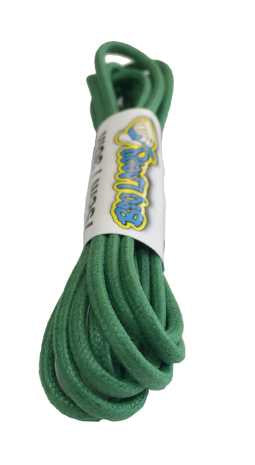 Round Waxed Emerald Green Cotton Shoe Boot Laces